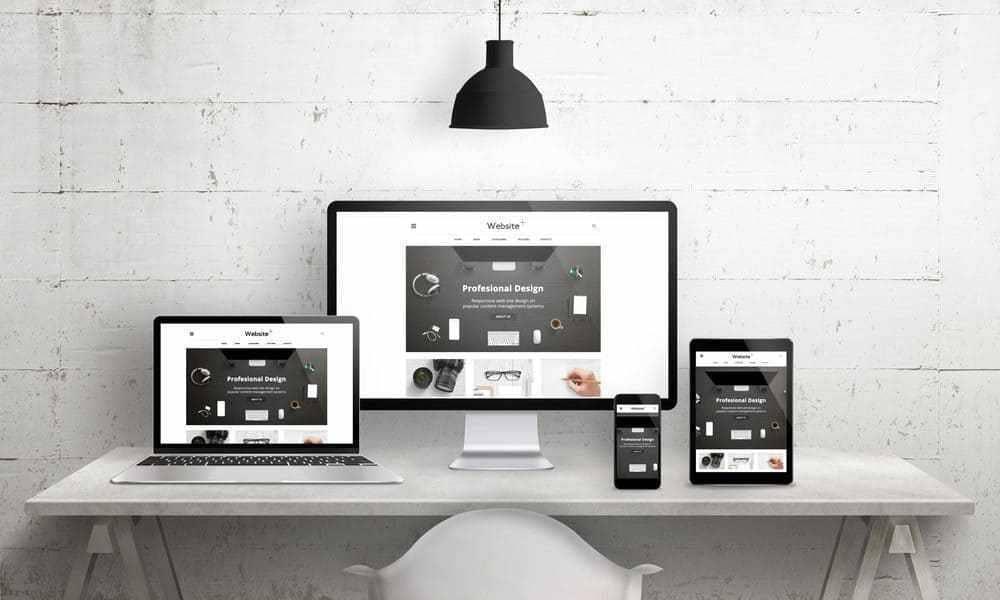 Mockup di responsive web design